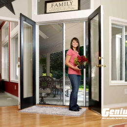 milano 200 double retractable screen doors