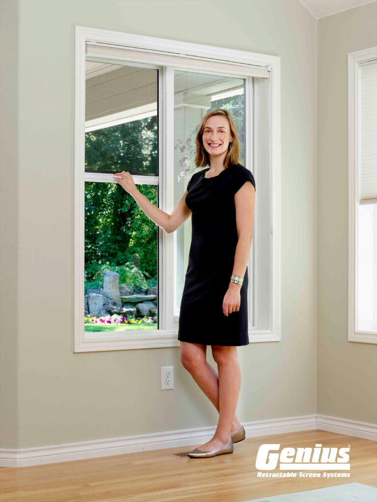 Cascade Disappearing Retractable Window Screen